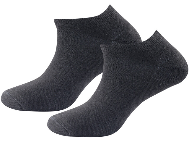 Devold Daily Shorty Socks Women 2-Pack Black